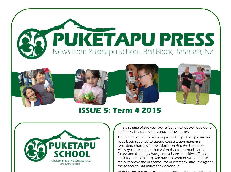 Puketapu Press – Issue 5