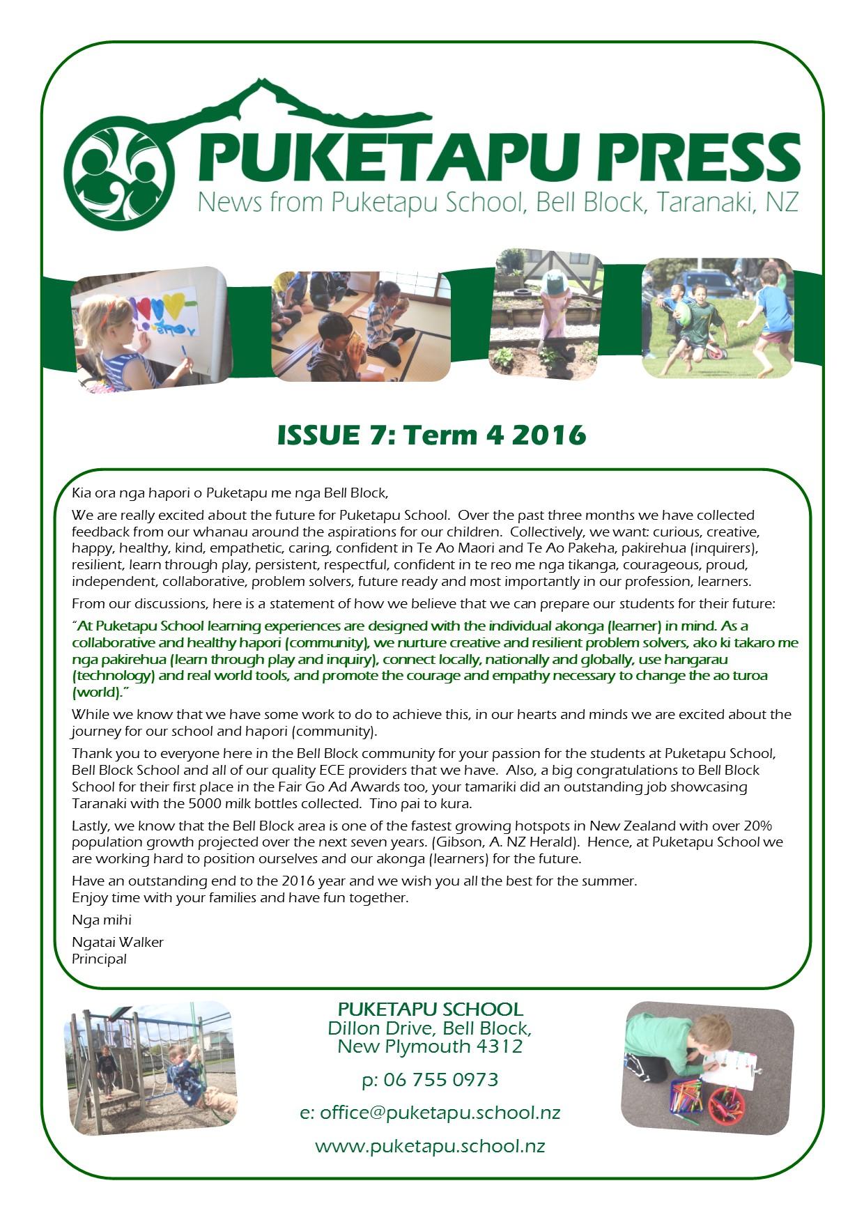 Puketapu Press – Issue 7